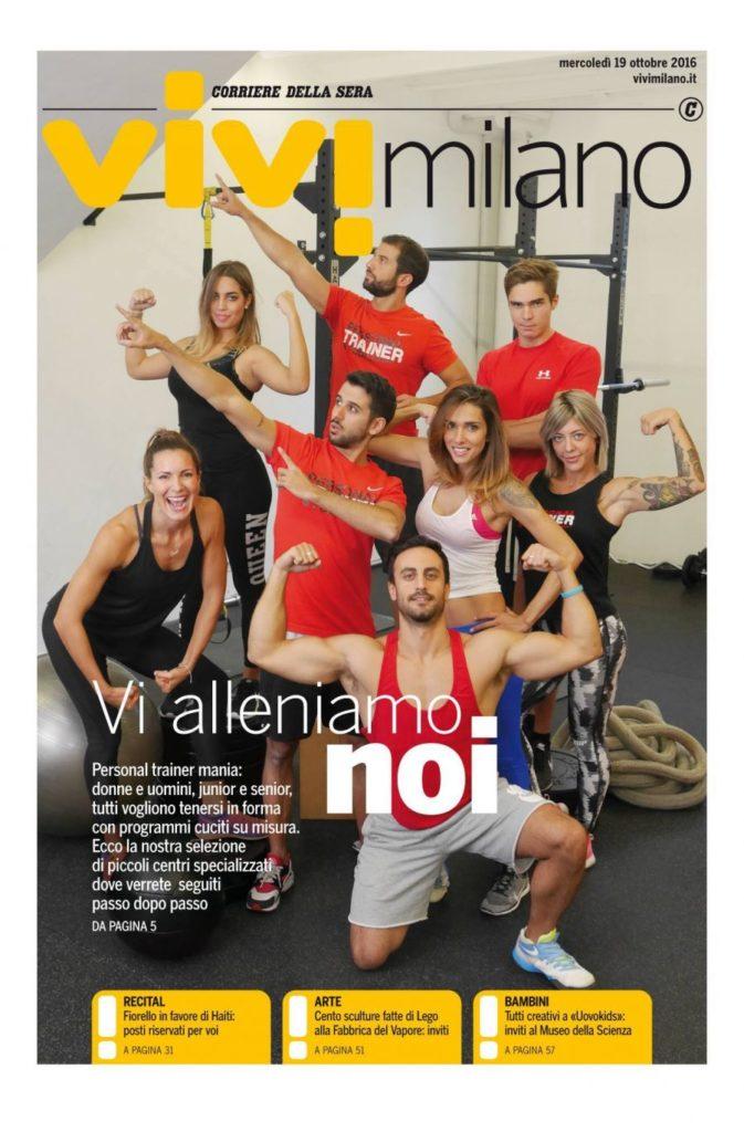 personal trainer in copertina di Vivi Milano